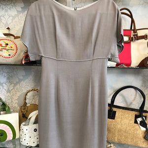 ESCADA Shadow Gray Short Sleeve Sheath Dress